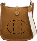 """Luxury Accessories:Bags, Hermès Alezan Clemence Leather Evelyne TPM Bag with Palladium Hardware.. Q Square, 2013. Condition: 1. 6.5"""" Width ..."""
