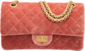 """Luxury Accessories:Bags, Chanel Pink Quilted Velvet Reissue Double Flap Bag with Gold Hardware. Condition: 2. 9.5"""" Width x 5.5"""" Height x 3"""" Dep..."""