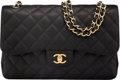 """Luxury Accessories:Bags, Chanel Quilted Caviar Leather Jumbo Double Flap Bag with Gold Hardware. Condition: 3. 12"""" Length x 8"""" Height x 3 1/2"""" ..."""