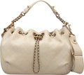 """Luxury Accessories:Bags, Chanel Cream Quilted Lambskin Bucket Bag with Distressed Gold Hardware. Condition: 4. 12"""" Length x 8"""" Height x 5"""" Dept..."""