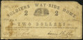 Charleston, SC- Soldiers' Way-Side Home $2 May 1, 1864 Very Good-Fine