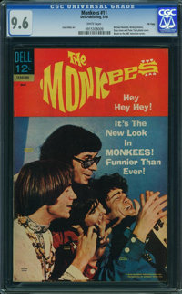 The Monkees #11 - File Copy (Dell, 1968) CGC NM+ 9.6 WHITE pages