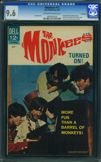 The Monkees #12 - File Copy (Dell, 1968) CGC NM+ 9.6 OFF-WHITE TO WHITE pages