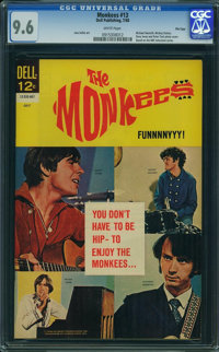 The Monkees #13 - File Copy (Dell, 1968) CGC NM+ 9.6 WHITE pages
