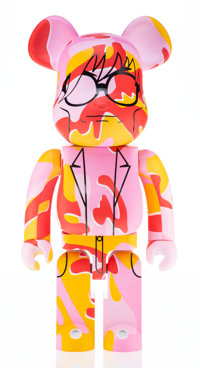 BE@RBRICK X The Andy Warhol Foundation for the Visual Arts This is Andy 1000% (Pink Camo), 2017 Pain