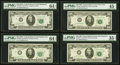 $20 Federal Reserve Notes PMG Graded. Fr. 2066-E 1963A Choice Uncirculated 64 EPQ; Fr. 2066-J 1963A Choice Uncircula...