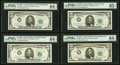 $5 1963A Federal Reserve Notes PMG Graded. Fr. 1968-C Choice Uncirculated 64 EPQ; Fr. 1968-E Choice Uncirculated 64...
