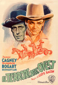 "Movie Posters:Western, The Oklahoma Kid (Warner Bros., 1946). Very Fine on Linen. First Post-War Release Italian Foglio (27.25"" X 39.5"") Luigi Mart..."