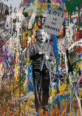 Prints & Multiples, Mr. Brainwash (b. 1966). Love is the Answer (Einstein), 2017. Screenprint, spray paint and mixed media on paper. 30 x 22...