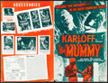 """Movie Posters:Horror, The Mummy & Other Lot (Realart, R-1951). Overall: Fine+. Uncut Pressbooks (5) (Multiple Pages, 11"""" X 17"""", 12"""" X 18"""", & 11"""" X... (Total: 30 Items)"""