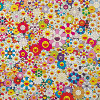 Takashi Murakami (b. 1962) Flowers in Heaven, 2010 Offset lithograph in colors on satin wove paper