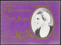 "Don Juan (Warner Bros., 1926). Fine/Very Fine. Program (16 Pages, 9"" X 12""). Adventure"