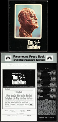 """The Godfather (Paramount, 1972). Overall: Very Fine-. Uncut Pressbook (6 Pages, 12.5"""" X 15"""") & Program (Mu..."""