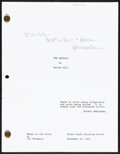 """Movie Posters:Action, The Getaway by Walter Hill (1990s). Very Fine+. Autographed Reproduction Script (Multiple Pages, 8.5"""" X 11""""). Action.. ..."""