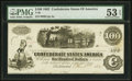 Confederate Notes:1862 Issues, T40 $100 1862 PF-21 Cr. 309 PMG About Uncirculated 53 EPQ.. ...