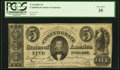Confederate Notes:1861 Issues, T34 $5 1861 PF-1 Cr. 262 PCGS Very Fine 35.. ...