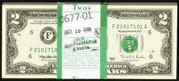Fr. 1936-F $2 1995 Federal Reserve Notes. Original Pack of 100. Choice Crisp Uncirculated. ... (Total: 100 notes)
