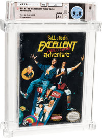 Bill & Ted's Excellent Adventure - Wata 9.8 A+ Sealed, NES LJN 1991 USA
