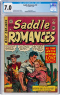 Golden Age (1938-1955):Western, Saddle Romances #10 (EC, 1950) CGC FN/VF 7.0 Off-white to white pages....