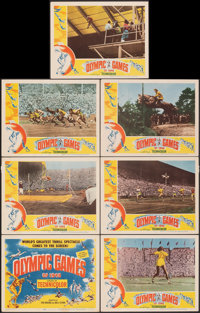 """The Olympic Games of 1948 (Eagle Lion, 1948). Very Fine-. Title Lobby Card & Lobby Cards (6) (11"""" X 14"""")..."""