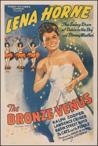 """The Bronze Venus (Toddy Pictures, R-1941). Fine/Very Fine on Linen. One Sheet (26.75"""" X 41.5""""). Original Title..."""