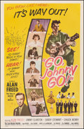 """Movie Posters:Rock and Roll, Go, Johnny, Go! (Hal Roach, 1959). Fine on Linen. One Sheet (27"""" X 41.25""""). Rock and Roll.. ..."""
