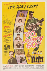 """Go, Johnny, Go! (Hal Roach, 1959). Fine on Linen. One Sheet (27"""" X 41.25""""). Rock and Roll"""
