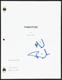 """Tombstone by Kevin Jarre (Buena Vista, 1993). Very Fine-. Autographed Fourth Draft Script (130 Pages, 8.5"""" X 11&quo..."""