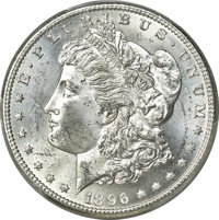 1896-S $1 MS64 PCGS. The 1896-S Morgan dollar is a better date in Uncirculated condition. Choice examples such as the pr...