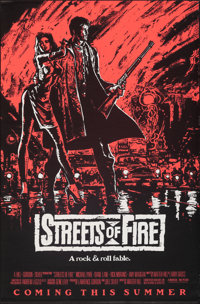 """Streets of Fire (Universal, 1984). Rolled, Very Fine. One Sheet (27"""" X 41"""") SS Advance, Pink Style. Action..."""