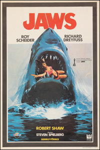 """Jaws (Universal, 1981). Fine/Very Fine on Linen. First Release Turkish One Sheet (26.75"""" X 40""""). Horror"""