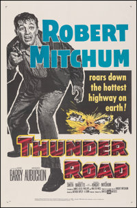 """Thunder Road (United Artists, 1958). Very Fine- on Linen. One Sheet (27"""" X 41.5""""). Crime"""