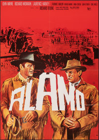 "The Alamo (United Artists, R-early 1970s). Folded, Very Fine-. German A1 (23.25"" X 33""). Western"