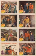 """Movie Posters:Western, California Gold Rush & Other Lot (Republic, 1946). Very Fine-. Lobby Card Sets of 8 (2) (11"""" X 14"""") with Original Studio Env... (Total: 17 Items)"""