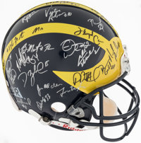1997 Michigan Wolverines Team Signed Helmet