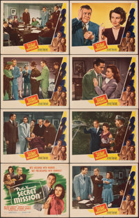 "Philo Vance's Secret Mission (PRC, 1947). Very Fine-. Lobby Card Set of 8 (11"" X 14""). Mystery. ... (Total: 8..."