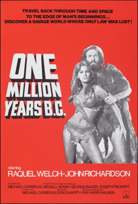 """One Million Years B.C. (Thorn EMI, R-1970s). Rolled, Near Mint-. Full-Bleed British Double Crown (20"""" X 30"""")..."""