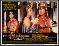 """Conan the Barbarian & Other Lot (Universal, 1982). Very Fine-. Cast Photos (2) (16"""" X 12"""") & Autograph..."""