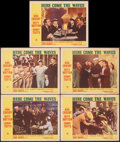 """Movie Posters:Musical, Here Come the Waves & Other Lot (Paramount, 1944). Fine+. Lobby Cards (9) (11"""" X 14""""). Musical.. ... (Total: 9 Items)"""