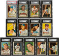 Autographs:Sports Cards, Signed 1952 Topps Baseball SGC/PSA/DNA Collection (13). ...