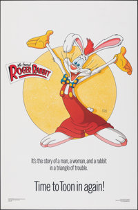 """Who Framed Roger Rabbit (Kilian, 1988). Rolled, Very Fine. One Sheets (2) Identical (27"""" X 41"""") SS, Style C. D..."""