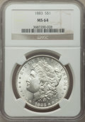 Morgan Dollars, 1883 $1 MS64 NGC. This lot also include the following: 1884 $1 MS64 NGC; 1885 $1 MS64 NGC; 1886 $1 MS64 NGC; 1887... (Total: 6 coins)