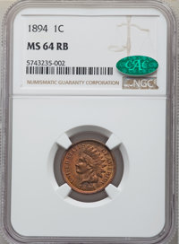 1894 1C MS64 Red and Brown NGC. CAC. NGC Census: (199/71). PCGS Population: (303/55). CDN: $250 Whsle. Bid for NGC/PCGS...