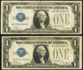 Fr. 1601* $1 1928A Silver Certificates. Two Examples. Very Good or Better. ... (Total: 2 notes)