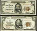 Fr. 1880-L $50 1929 Federal Reserve Bank Notes. Two Examples. Very Fine or Better. ... (Total: 2 notes)