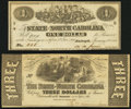 Raleigh, NC- State of North Carolina $1; $3 Jan. 1, 1863 About Uncirculated or Better