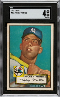 1952 Topps Mickey Mantle #311 SGC VG/EX 4