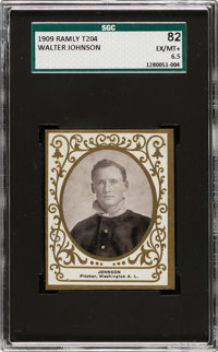 1909 T204 Ramly Walter Johnson SGC 82 EX/NM+ 6.5