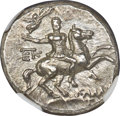 Heritage Select. 102. Ancients. Greek. CALABRIA. Tarentum. Ca. 240-228 BC. AR stater or didrachm (6.43 gm). NGC MS 5/5 -...