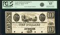 Obsoletes By State:Georgia, Athens, GA- Georgia Rail Road & Banking Company, Augusta Branch $10 18__ G26 Proof PCGS Choice New 63.. ...